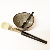 Mask Brush & Cup Set cosmetic brush, facial brush, mask brush, bowl, herbal face treatment